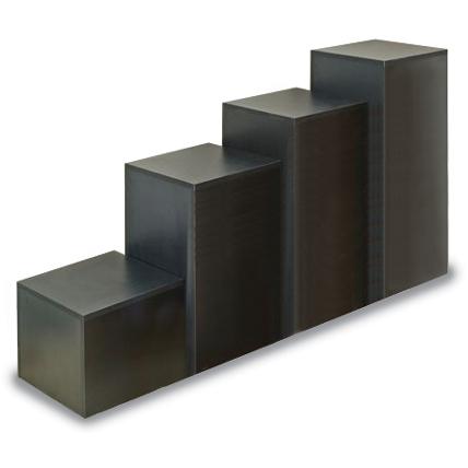 Laminated Wood Cube Display Pedestal Wooden Store Displays