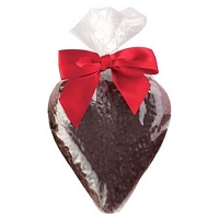 Large Solid Dark Chocolate Heart - 12ct