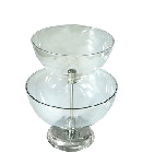 Large Two-Tier Bowl Counter Display - 16
