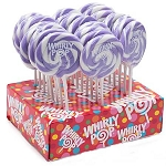 Lavender & White Whirly Pops - 1.5oz - 24ct