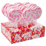 Light Pink & White Whirly Pops - 1.5oz - 24ct