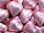 Light Pink Dark Milk Chocolate Hearts - 10lbs