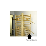 Log Wood Dowel Rack Waterfall - 16