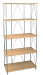 Maple Melamine 5 Shelf Unit