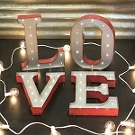 Metal Love Marquee LED Light