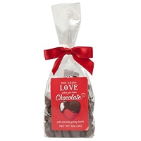 Milk Chocolate Covered Gummy Hearts Gift Bag - 12ct