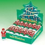 Milk Chocolate Santa Ornaments - 60ct