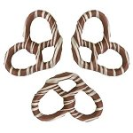 Milk Chocolate White Stripe Pretzels - 3lbs