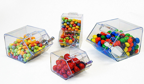 Clear Plastic Flared Bowl Candy Container - Small | CandyWarehouse ...