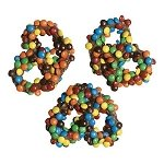 Mini M&M Milk Chocolate Pretzels - 25ct