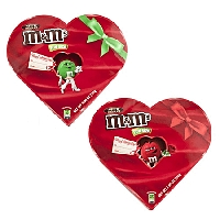 M&M Assorted Character Heart Boxes  - 12ct