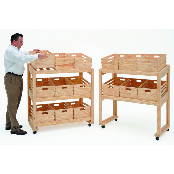 Small Mobile Crate Display   Crate Display Rack   Wooden ...