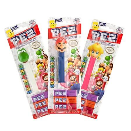 NINTENDO PEZ Blister Packs Assorted - 12ct
