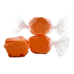 Orange Salt Water Taffy- Cello Wrapped - 20lbs