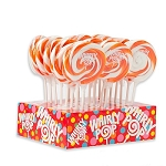 Orange & White Whirly Pops - 1.5oz - 24ct