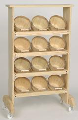 1 4 Peck Baskets Rack Wood Display Rack Wood Floor Display