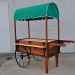 Peddlers Cart With Canopy - Toasted Finish