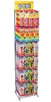 PEZ Rack w/Refills & PEZ Blister Packs