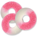 Pink Watermelon Gummi Rings - 4.5lbs