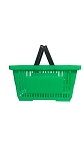Green Plastic Shopping Basket - 12ct