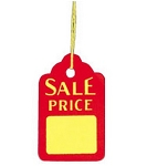 Prestrung Sale Tags - 1000ct