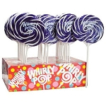 Purple & White Whirly Pops - 1.5oz - 24ct