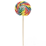 Large Rainbow Whirly Pops - 10oz - 18ct