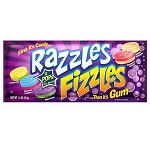 Razzles Fizzles Assorted Gum - 24ct