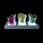 Rectangle LED Vase Light Base - 2ct