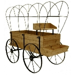 Wagon Display - Red Cedar - Without Cover
