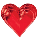 Red Foil Chocolate Triple Heart - 18ct