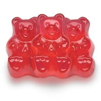 Red Fresh Strawberry Gummi Bears - 20lbs
