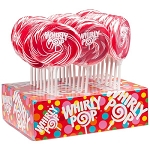 Red & White Whirly Pops - 1.5oz - 24ct