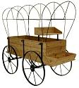 Wagon Display - Red Cedar - With Cover
