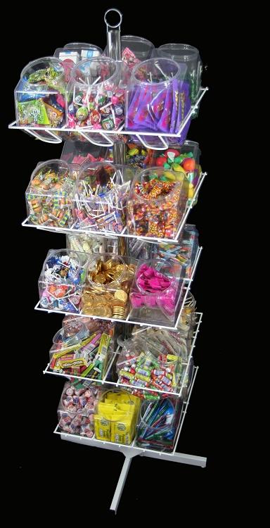30 Bucket Rotating Rack Retail Display Impulse Rack