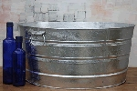 Round Galvanized Tub - 17 Gallon