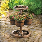 Rustic Wheel Planter