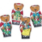 Santa Bears Solid Chocolate - 36ct