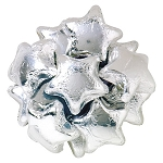 Silver Foiled Milk Chocolate Stars - 10lbs