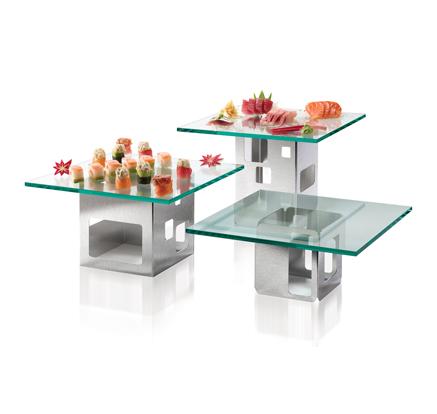 Home U003e Hotel / Buffet Supplies U003e Buffet Table Collections U003e Square Stainless  Steel Riser Set   6 Piece