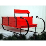 Sleigh Display - Painted - Apple Red