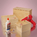 Slide Top 3pc Wooden Box Set - 6ct