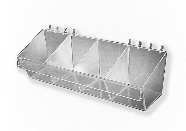 Acrylic Bins For Slatwall Pegboard Containers Pegboard