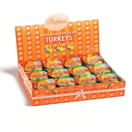 Small Flat Chocolate Turkeys Holiday Wholesale Candy
