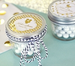 Metallic Foil Baby Small Glass Mason Jars - 24ct