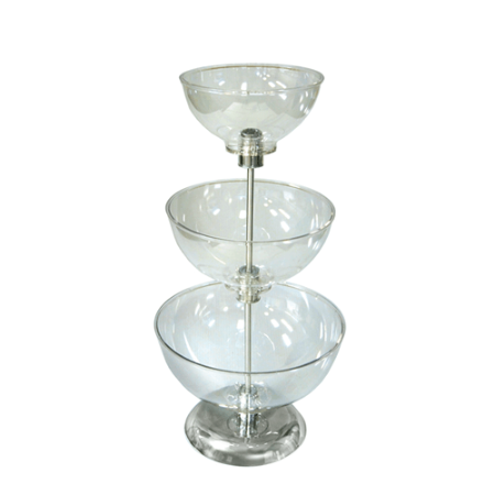 Small Three Tier Bowl Counter Display Bowl Store Display