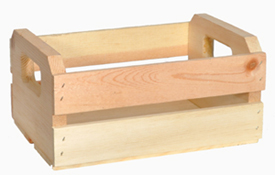 Small Wood Orange Crate Set   Wooden Crate Set