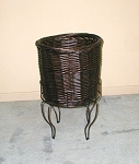 Short Willow Basket Stand