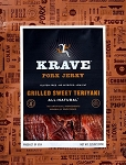 Grilled Sweet Teriyaki Pork Jerky - 3.25oz. - 8ct