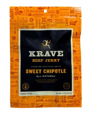 Sweet Chipotle Beef Jerky | Snack Sized Treats | Chipotle